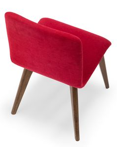 Link, Upholstered chair with wooden legs