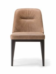 LOTUS SIDE CHAIR 063 S, Upholstered chair with wooden legs