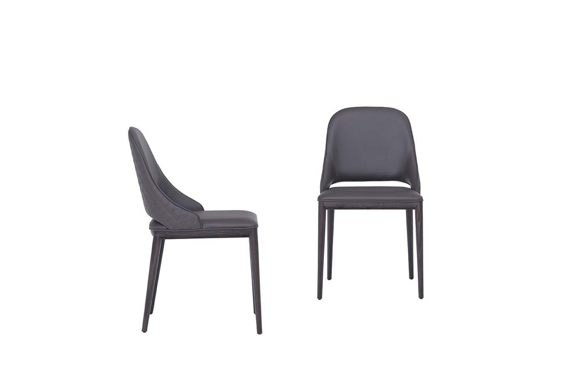 MALVA ÉLITE, Chair with wooden frame and diamond pattern on the back