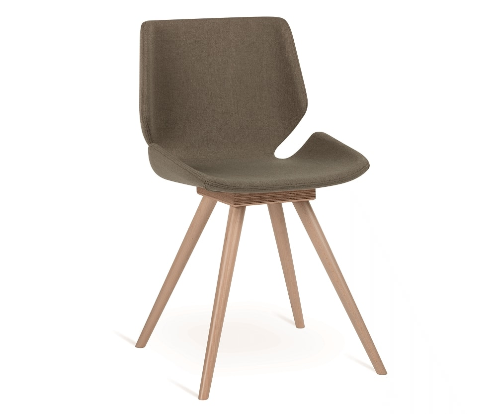 Meg-W, Chair with wooden legs