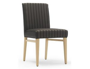 Milena-S1, Upholstered chair with low backrest