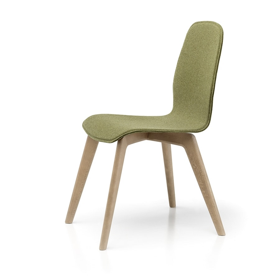 Milù Wood Soft, Wooden chair, removable