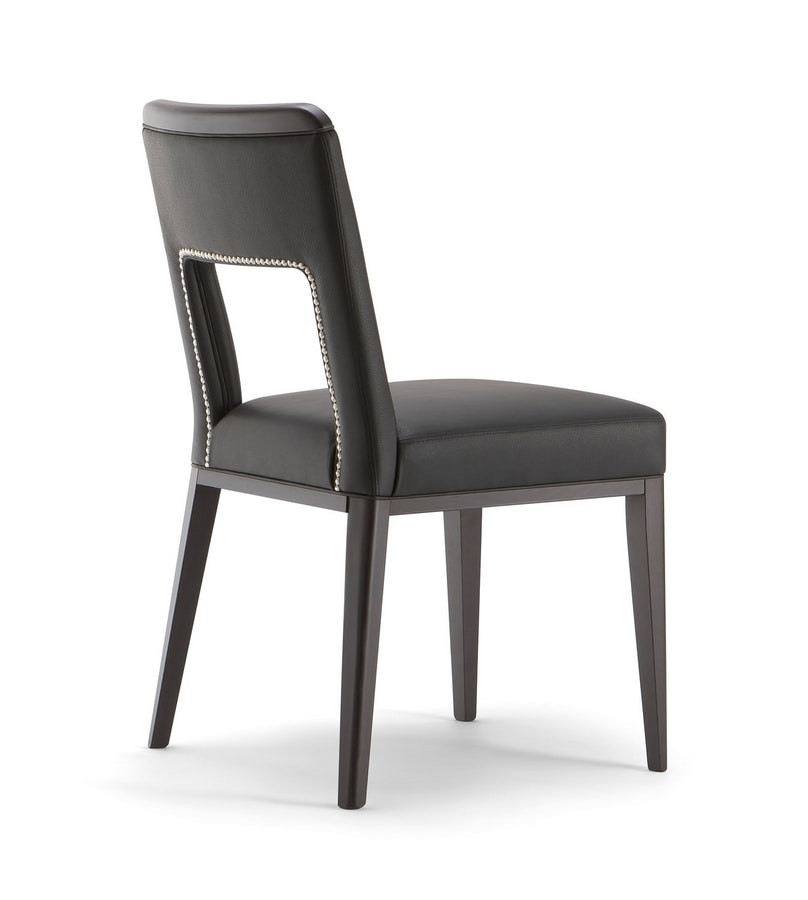 MONTREAL SIDE CHAIR 024 S, Chair with wide opening on the back