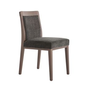 MP49E, Upholstered chair with wooden frame