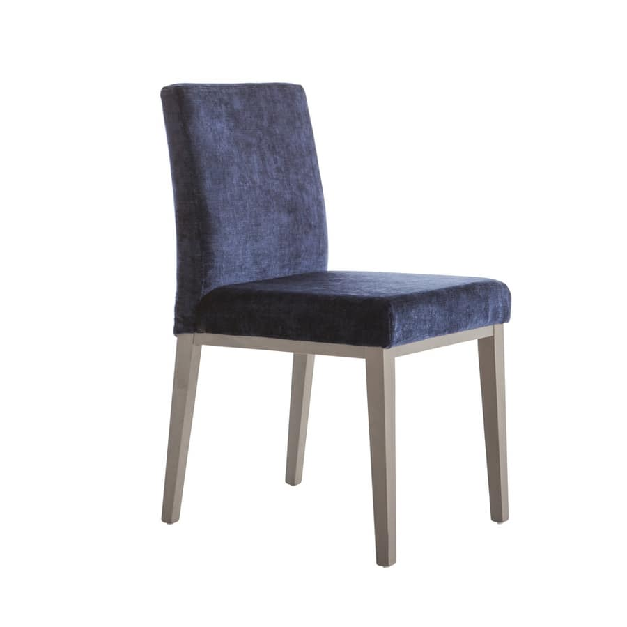 MP49G, Padded chair with wooden legs