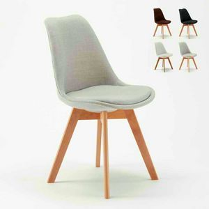 NORDICA PLUS Scandinavian Design Fabric Chair With Cushion For Kitchen And Bar, Scandinavian style upholstered chair