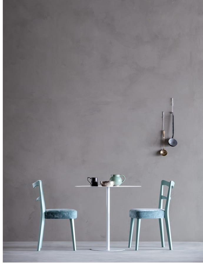 NORVEGIA, Chair with backrest with horizontal slats