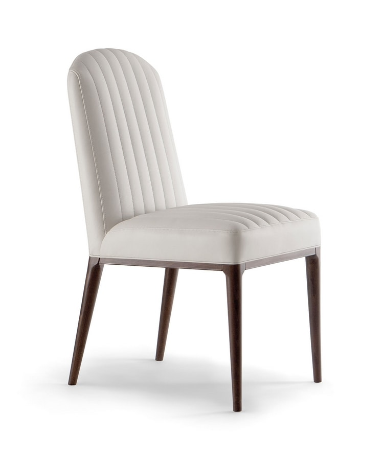 PARIGI SIDE CHAIR 038 S, Chair with visible stitching