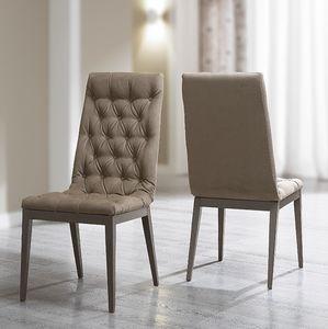 Platinum Glamour chair, Chair with capitonn� padding