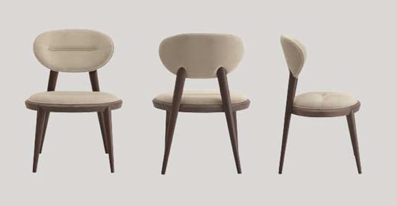 Ramon chair, Padded chair with tapered legs