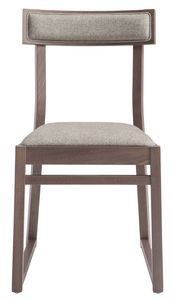 SE 439, Wooden chair with upholstered seat