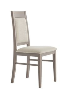 SE 490/A, Wooden chair with padded backrest and seat