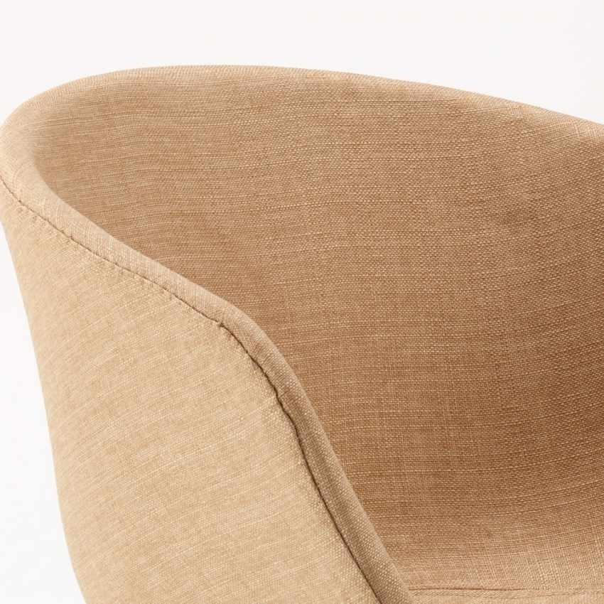 Sedia In Metallo Legno Tessuto Per Cucina Bar Scandinavo KOMODA, Upholstered upholstered chair