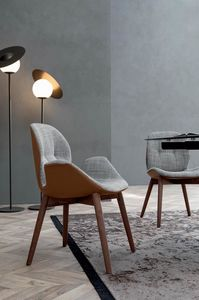 SORRENTO �SPRIT, Chair with wooden structure without creasing