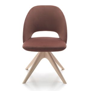 Vivian chair, Upholstered chair with wooden base