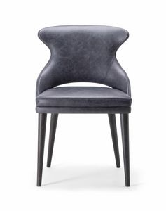 WINGS SIDE CHAIR 076 S, Chair with a refined and contemporary design