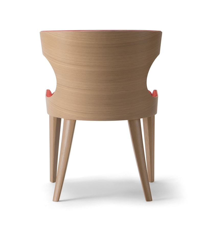 XIE SIDE CHAIR 053 S, Padded wooden chair