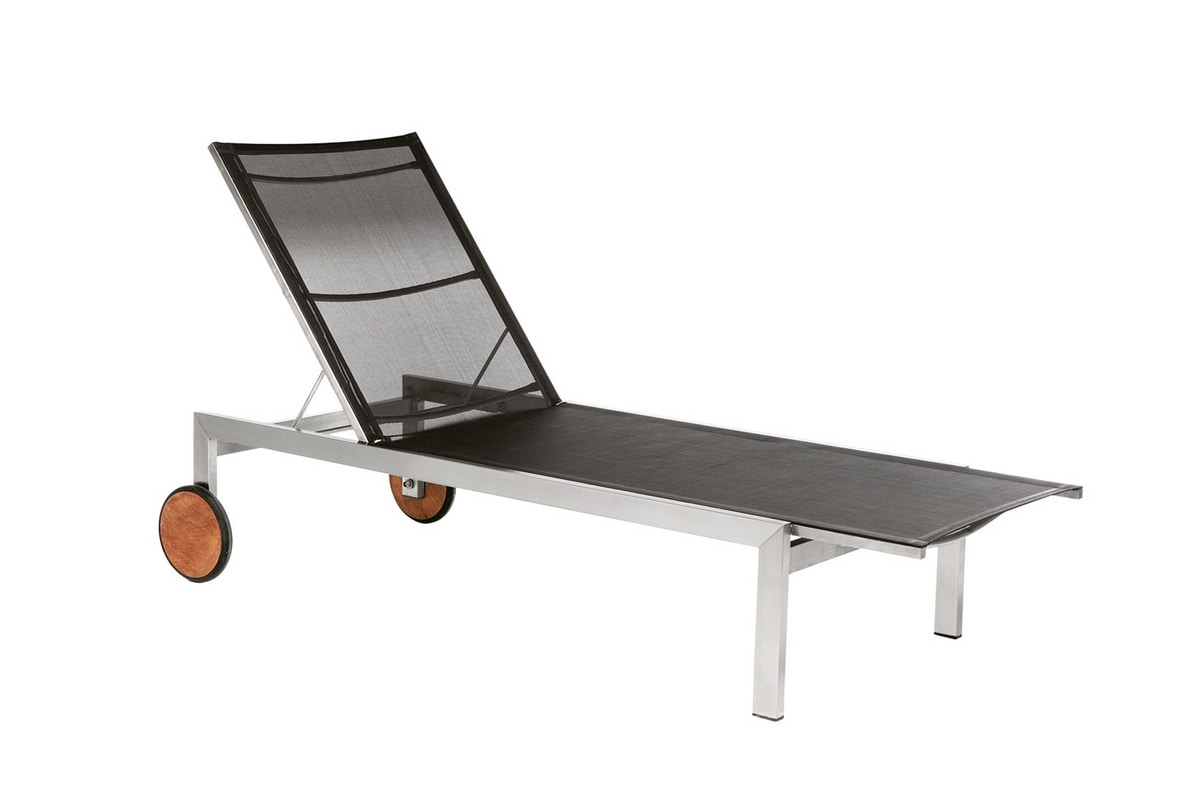Adamas 5503, Sunlounger in seel and mesh