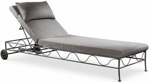 Bahamas new lounger, Oudtoor sunbed covered in linen, adjustable backrest
