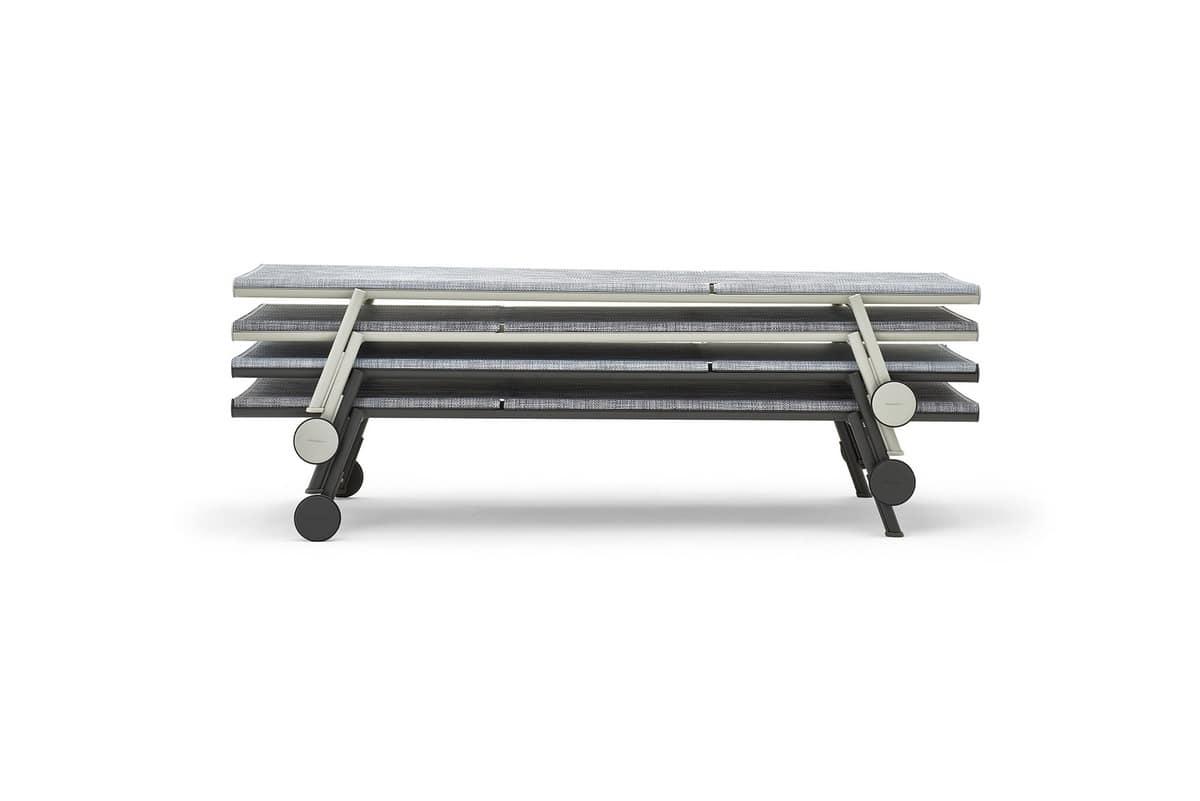 Bahia sunlounger, Sunlounger in lightweight aluminum, durable and stackable