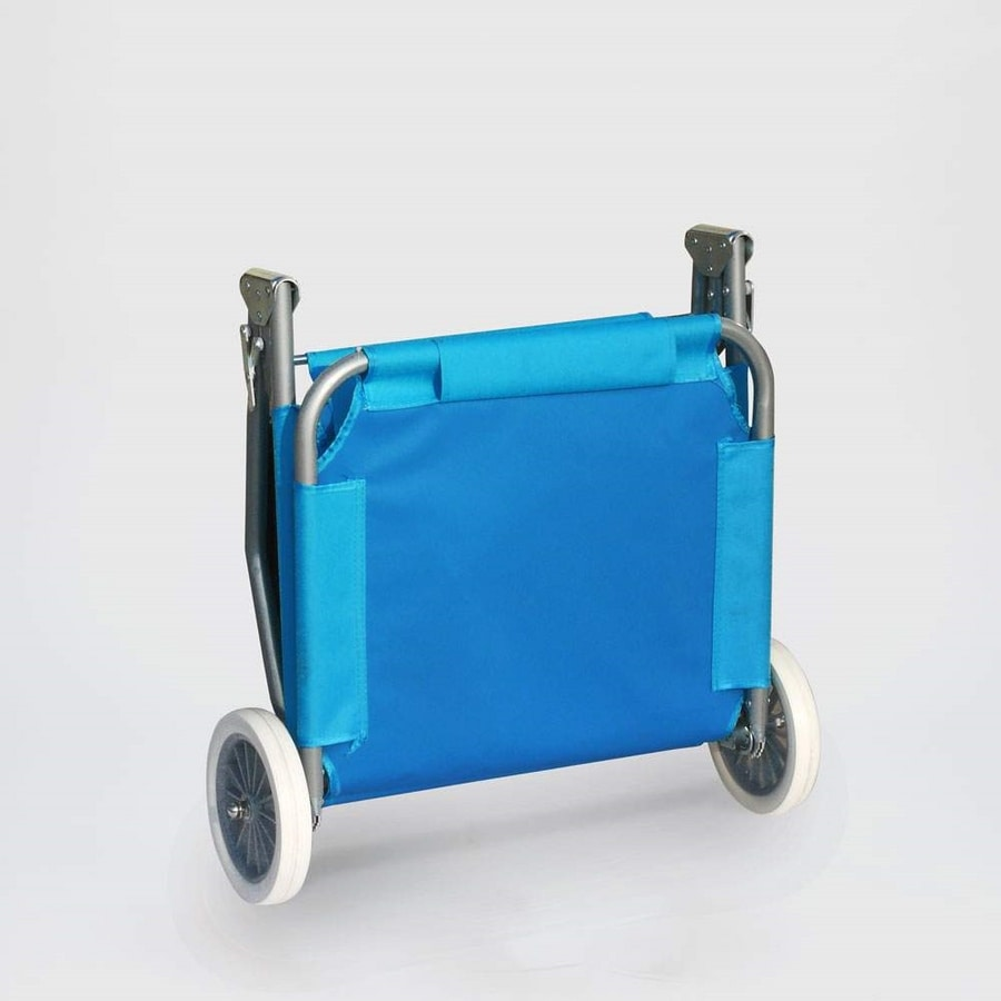 BANANA Folding Deck Chair With Built-in Wheels - BA600OXFAZ, Portable deckchair with wheels