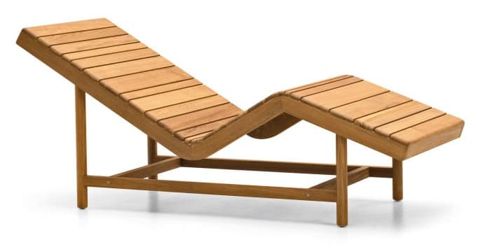 Barcode Relax Lounger, Relax lounger with wooden slats, ideal for sauna