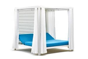 Bivacco gazebo, Double deck with reclining backrests, for outside