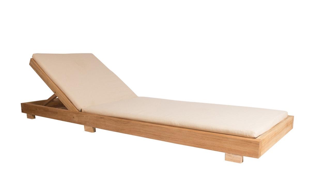 Boxer 0533, Teak wood sunlounger