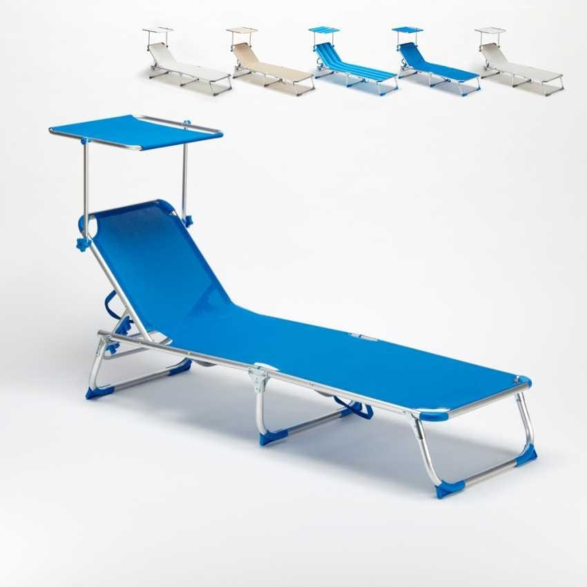 Folding Sea bed California – CA800TEX, Folding bed with canopy for the beach and pool