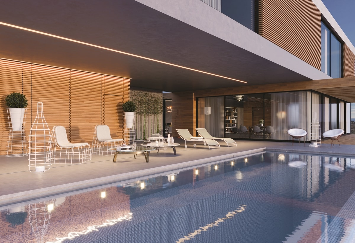 Duna, Iron lounge chair for swimming pools