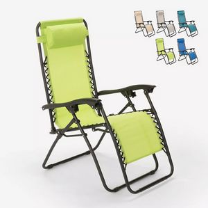 Emily multi-position folding beach garden deck chair with Zero Gravity EM6010TEX, Multi-position folding deckchair