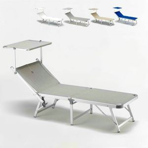 Beach lounger Gabicce - GA800TEX, Beach lounger covered in fabric with aluminum structure
