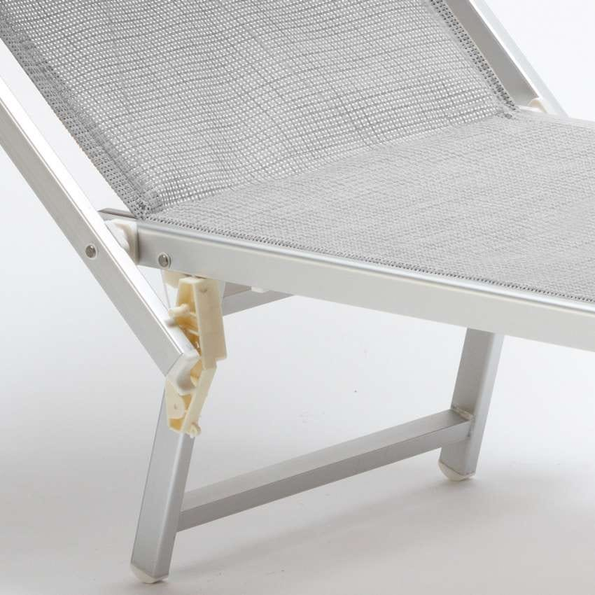 Professional sunbed Italia – IT100TEX, Beach lounger with canopy for beaches, pools and hotels