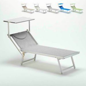 Professional sunbed Italia � IT100TEX, Beach lounger with canopy for beaches, pools and hotels