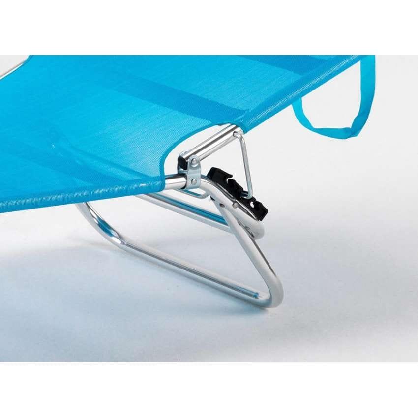 Beach cot foldable folding aluminum beach swimming pool CANCUN - CA800UVAA, Folding sea bed with sunshade