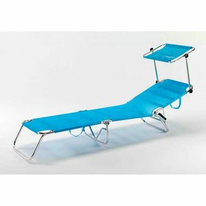Beach cot foldable folding aluminum beach swimming pool CANCUN - CA800UVAA, Folding sea bed with sunshade