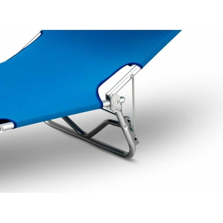Lettino mare sdraio alluminio pieghevole spiaggia parasole VERONA LUX - VE800LUX, Folding aluminum sea bed