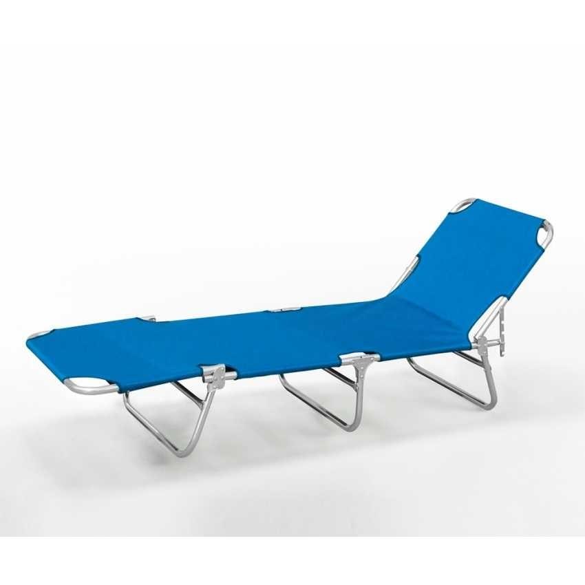 Lettino mare sdraio alluminio spiaggia VERONA OXFORD - VE800OXF, Resealable sea bed, in aluminum