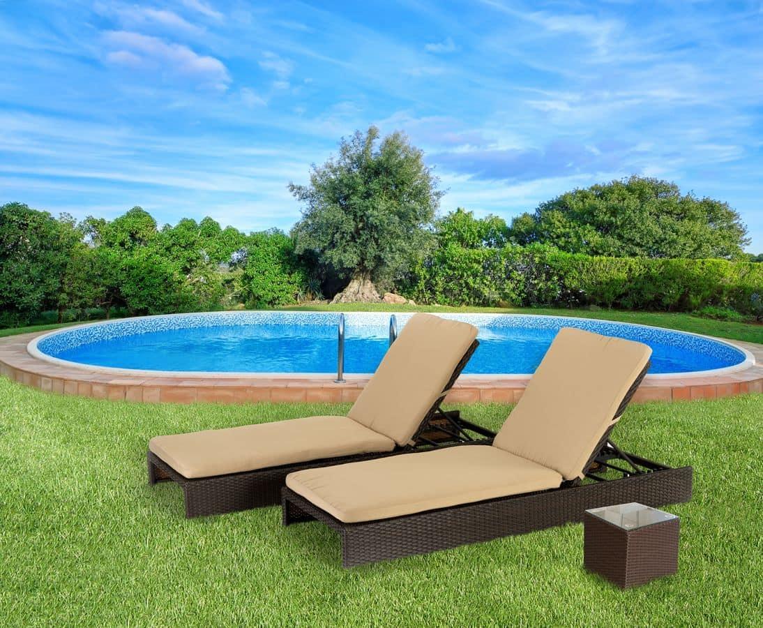 Lettini Prendisole In Rattan.Rattan Sun Loungers For Terrace And Gardens Idfdesign