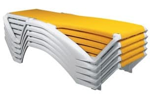 Maiorca, Sunbed for swimming pools and hotels, easy to clean
