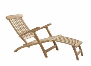 Moon 0501, Adjustable teak deckchair