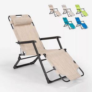 Multi-position folding beach and garden deck chair Zero Gravity Emily Lux EM6012TEX, Beach deck chair