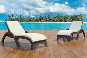 Palma-L, Sun lounger for outdoor, stackable, adjustable back