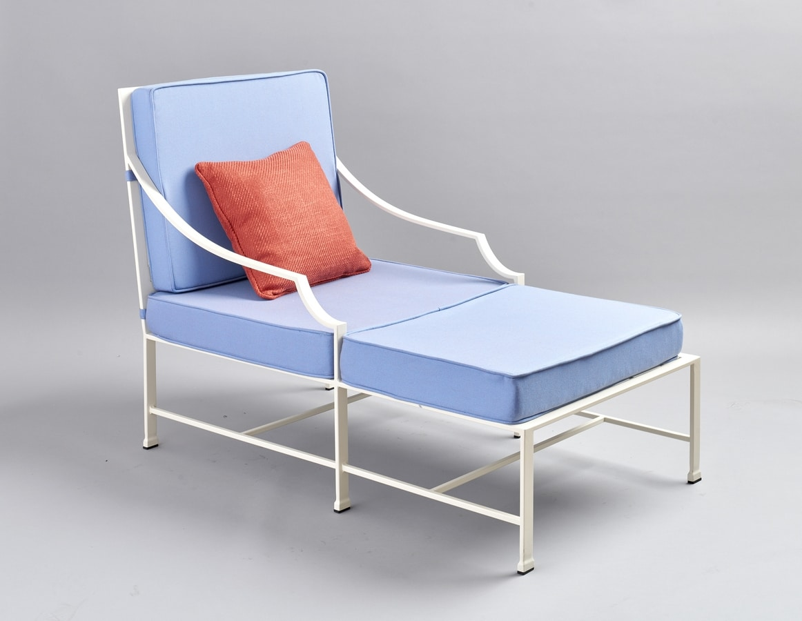 PERENNIAL GF4025BE, Iron chaise lounge with comfortable cushions