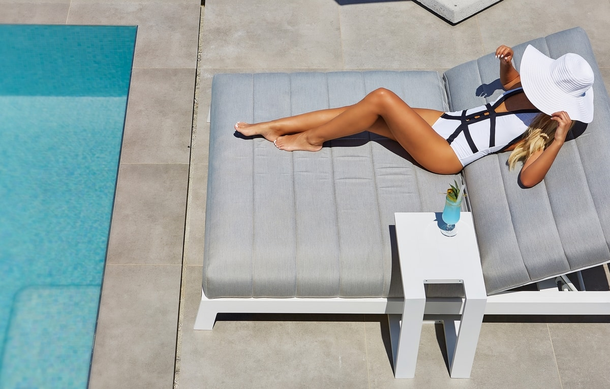 PL Argentina Double, Padded lounger for poolside