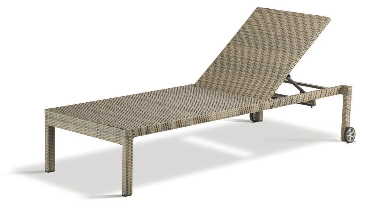 PL Ocean, Sunbed in woven aluminum, in various colors