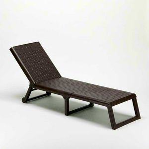 Professional plastic sunlounger SPRING reclosable - SP800PL, Pool lighter with reclining back