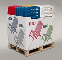 Rio, Folding sunbed made in plastic for outdoor use