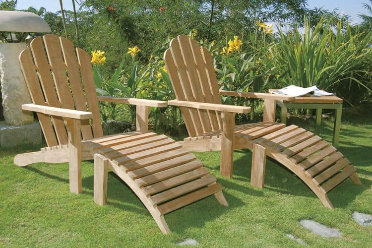 Riviera 502, Adirondack chair is a simple and confortable wooden chair for outdoor use