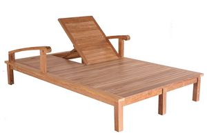 Saint Laurent 0514, Double wooden sunlounger, adjustable